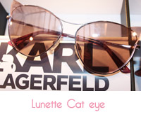 Modèle solaire cat eye de Karl Lagerfeld