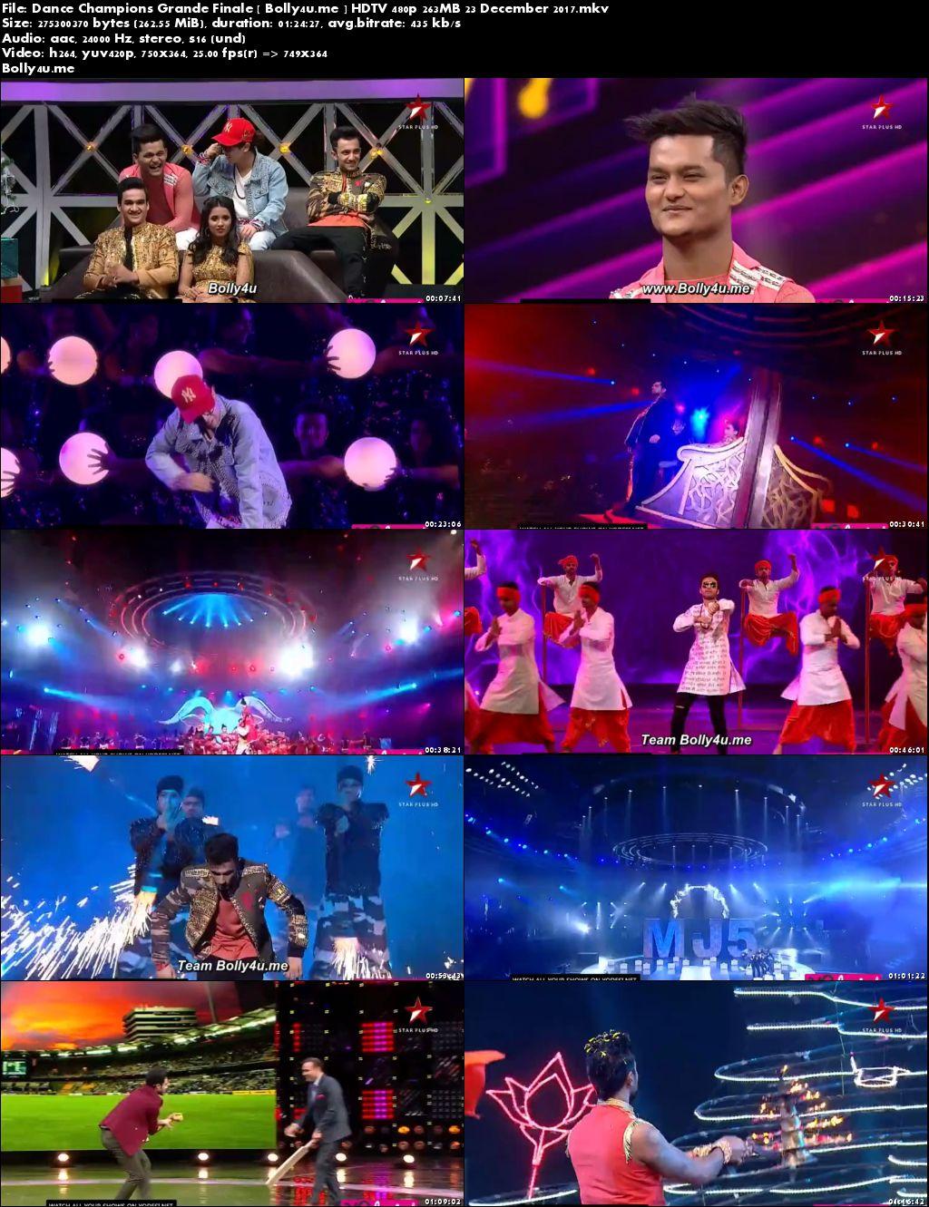 Dance Champions HDTV 480p 250MB Grand Finale 23 Dec 2017 Download
