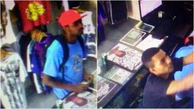 Câmeras de segurança flagram ação de bandidos em loja de tatuagens
