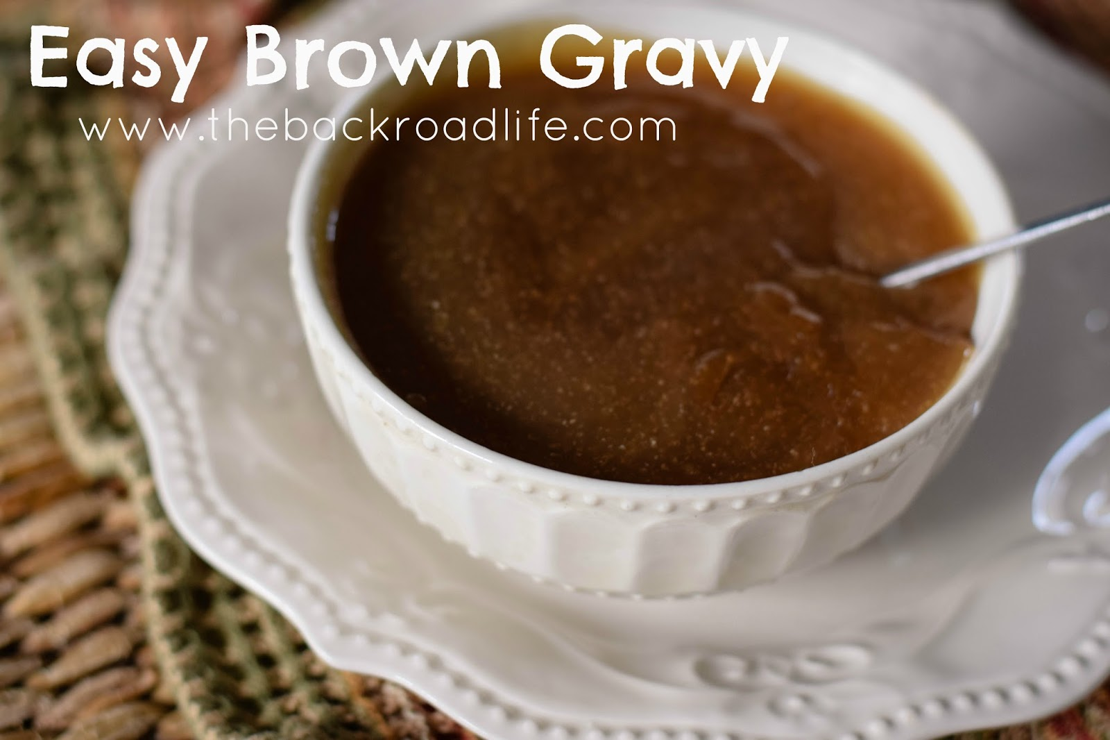 how to make gravy without meat or broth