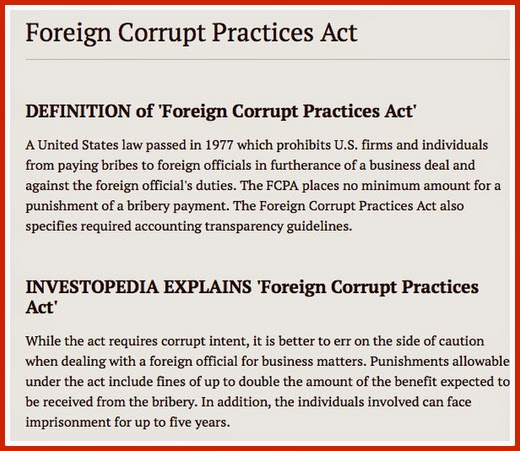 International Business And The Foreign Corrupt Practices Act