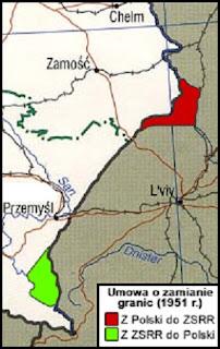 Korekta graniczna między Polską a ZSRR - luty 1951