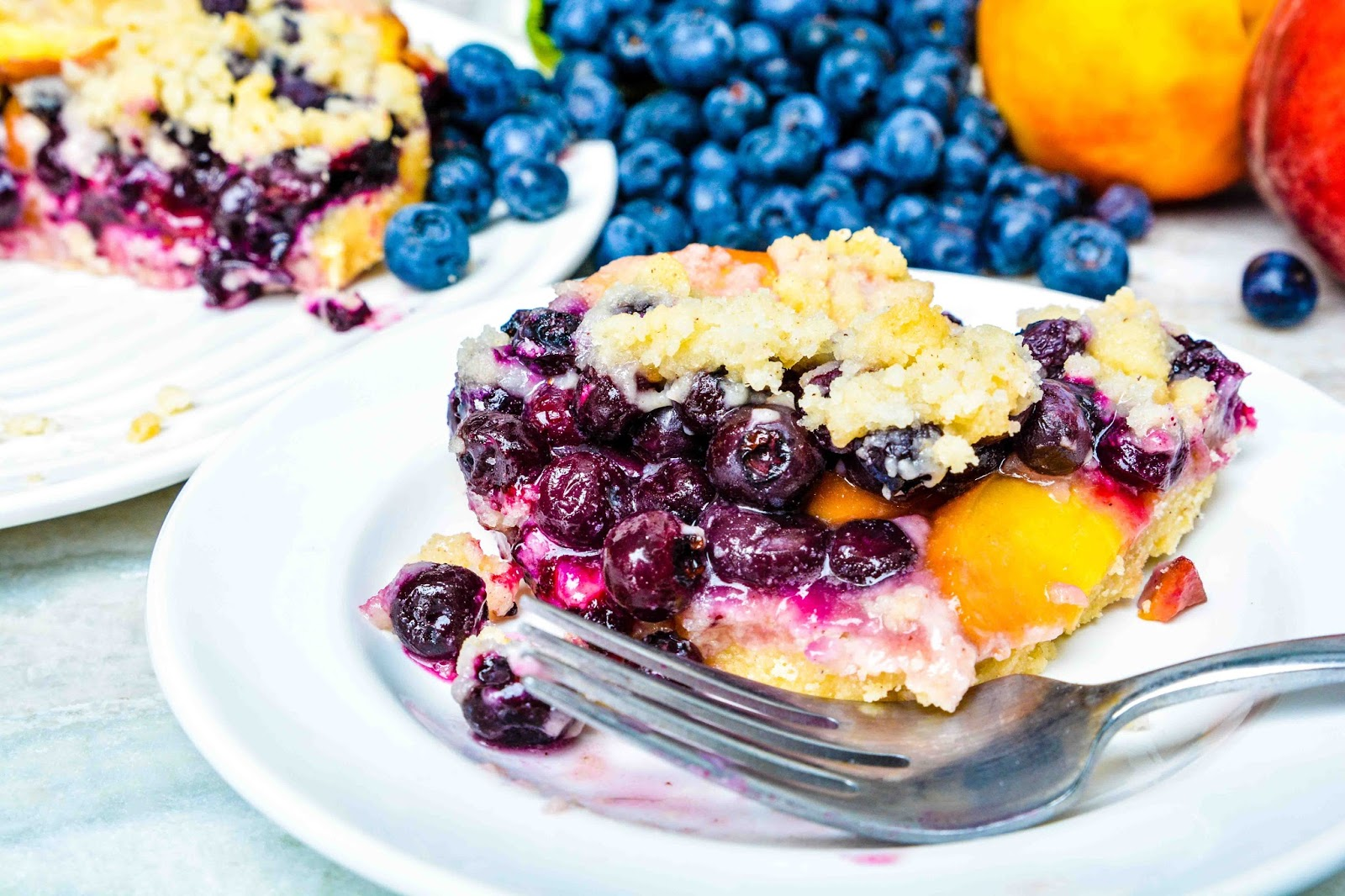 Blueberry Peach Tart
