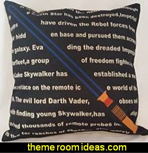 Star Wars The Force Be with You Light Saber Script Throw Pillow