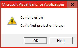 Excel-VBA Solutions: Missing Reference - Excel VBA