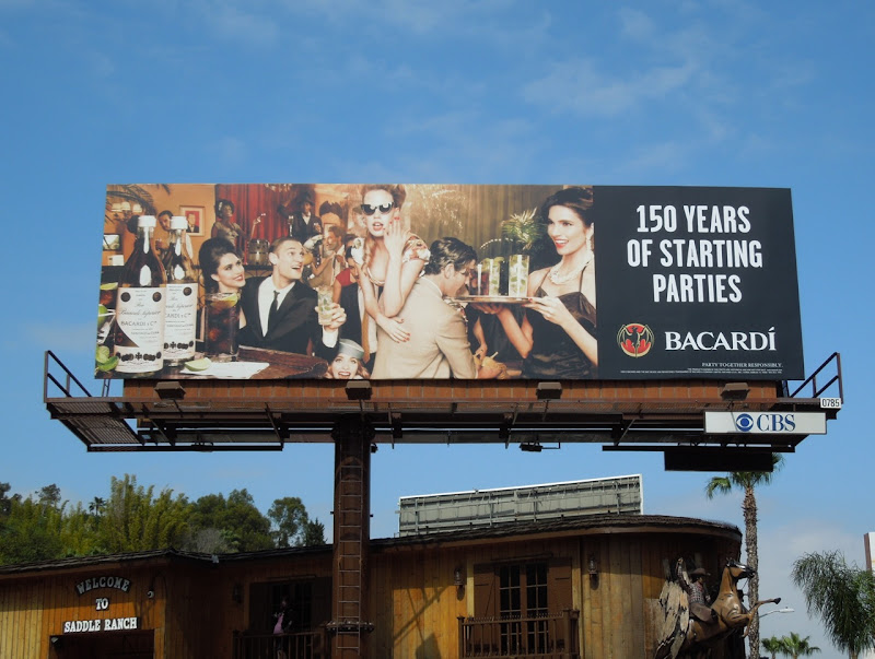 Bacardi 150 years billboard