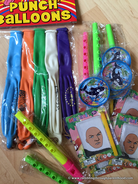 A variety of party favours from Party Bags and Supplies
