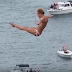 Cliff Divers Plunge from Terrifying Heights in Copenhagen