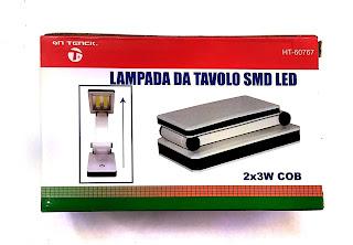 lampada da tavolo con cob led 6w pieghevole