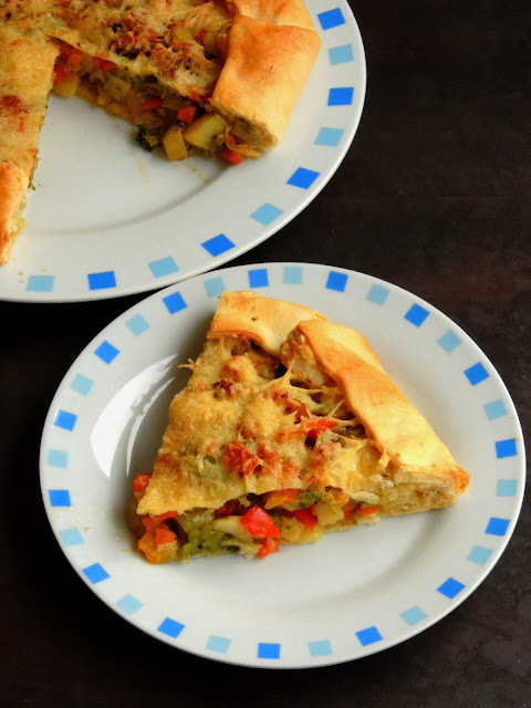 Eggless Cheese Vegetable Galette