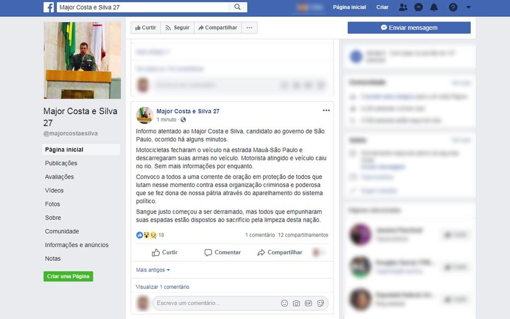 URGENTE: Candidato ao Governo de São Paulo sofre atentado a tiros