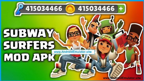 Android Emulator: Subway Surfers Mod APK Download For