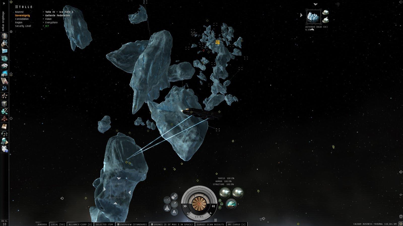 Eve Online Ice Mining