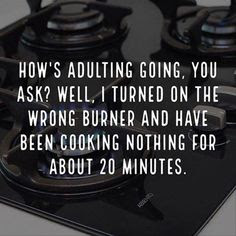 adulting meme, adulting wrong burner