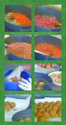 reis, bällchen, arancini, suppli, zubereitung, italienisch, frittieren, olivenöl