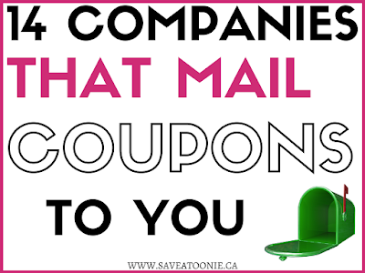 Companies that mail coupons