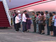 Pangdam XIII/Merdeka sambut Presiden RI di Bandara Samrat