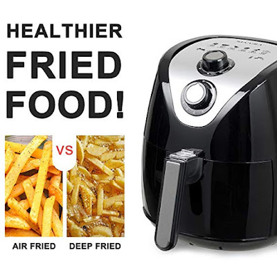 Electric Hot Air Fryer and additional accessories