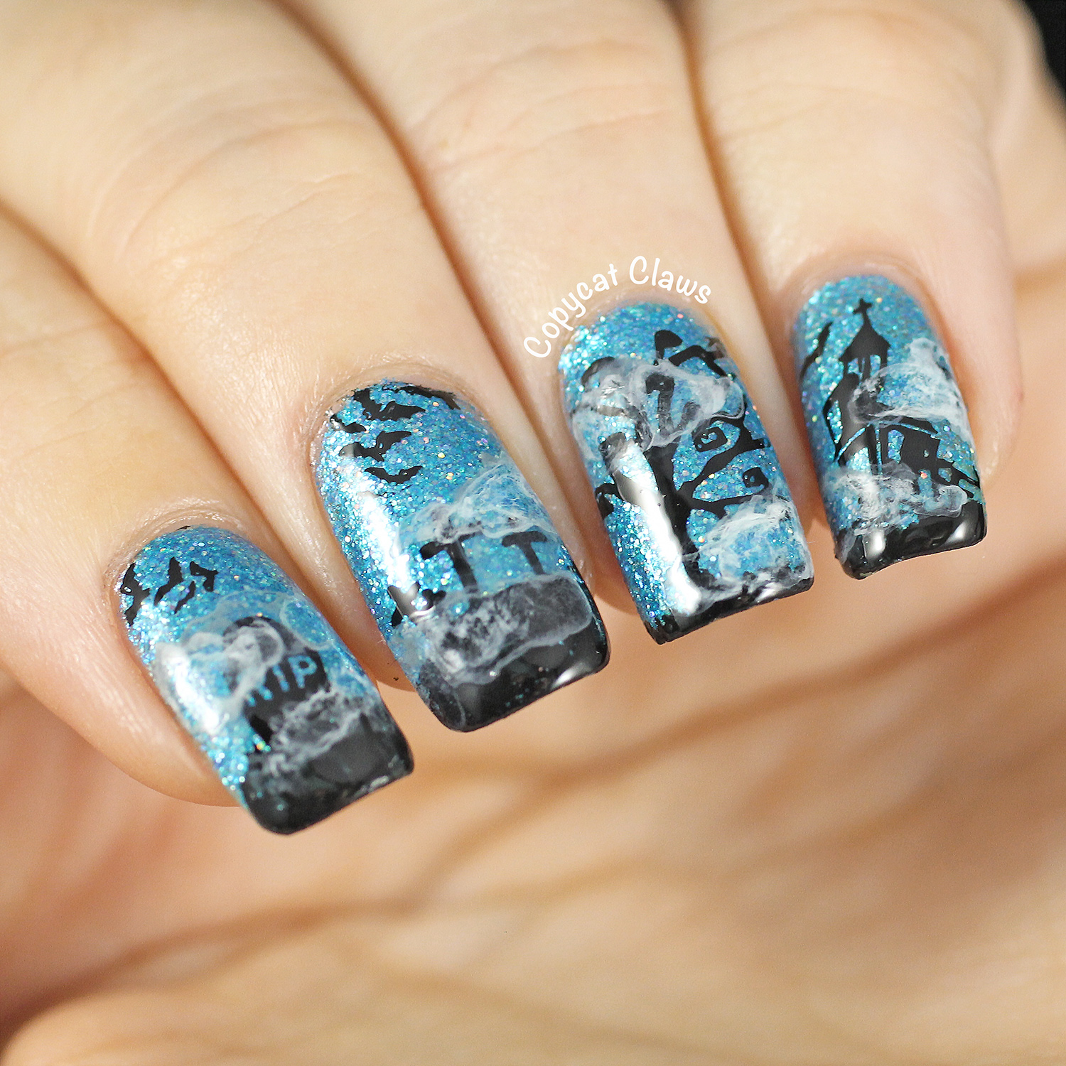 Copycat Claws: Sunday Stamping - Halloween Nails