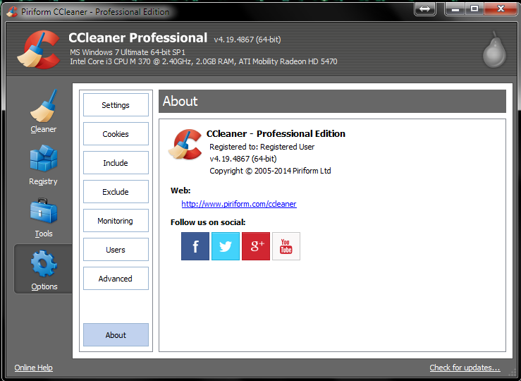 CCleaner Professional & Business 4.19 Crack & Serial Full Version