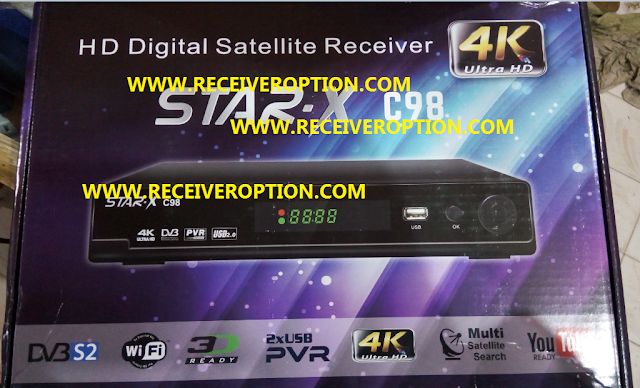 STAR-X C98 HD RECEIVER AUTO ROLL POWERVU KEY NEW SOFTWARE BY USB