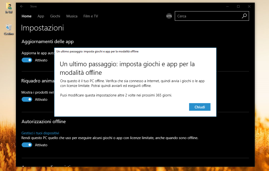 Come utilizzare offline i giochi del Windows Store HTNovo 3