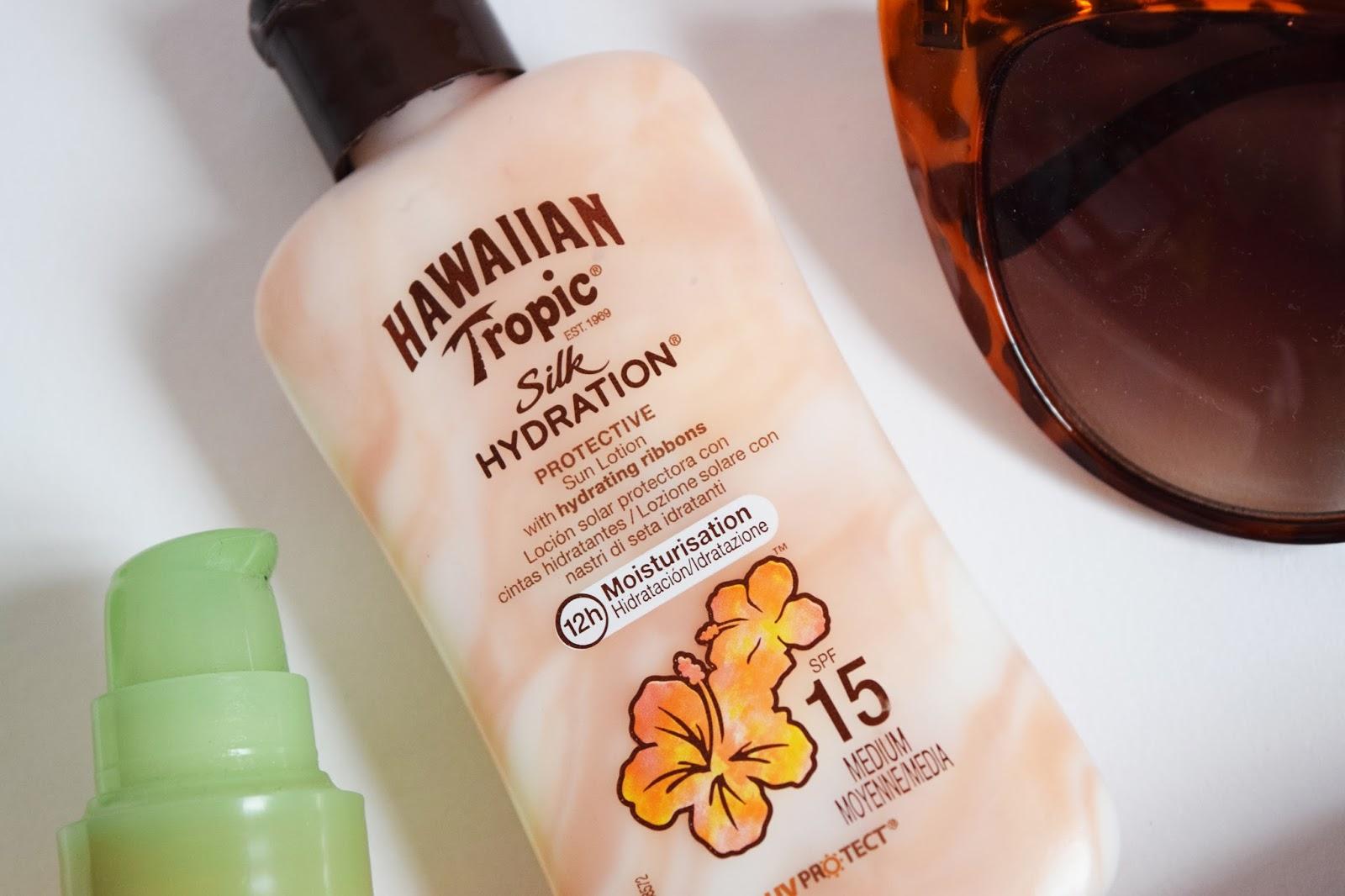 A close up shot of Hawaiian Tropic Sun Cream