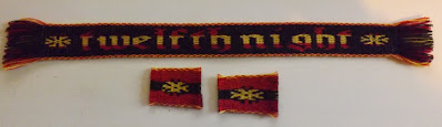 A photograph of the Twelfth Night prize tablet woven bands