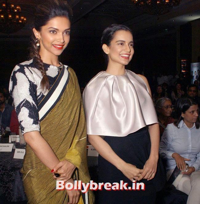 Deepika Padukone and Kangana Ranaut, DP, Ranbir, Aamir at NDTV Indian of The Year Awards 2014