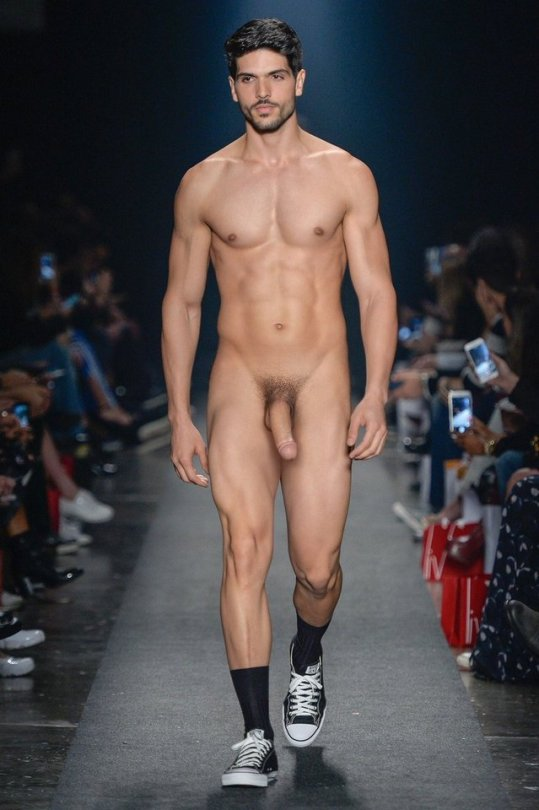 Pictures of naked male models on stage