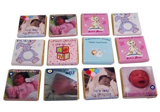 Kolide 100 Adet Resimli Bebek Çikolatası