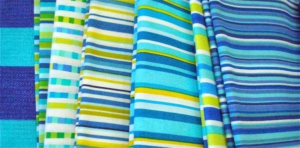 aqua stripe fabrics, aqua