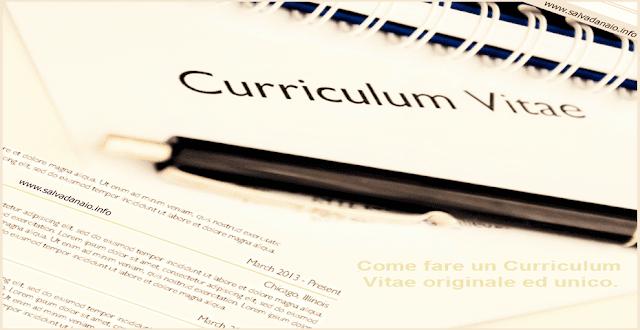 come fare curriculum vitae originale