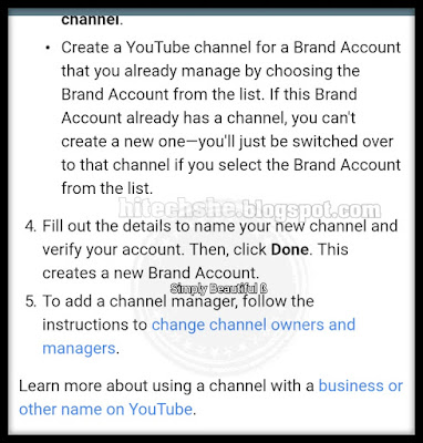 Create a youtube channel for brand account.