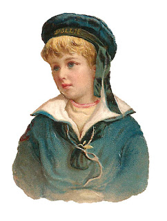 boy sailor portrait antique illustration digital download