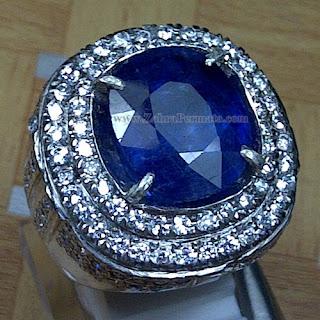 Cincin Batu Permata Blue Safir - ZP 1019