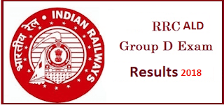 RRB Allahabad Group D Result 2018 आरआरबी इलाहाबाद - rrbald.gov.in 2018 Result, Cutoff Marks/ Group D Merit List