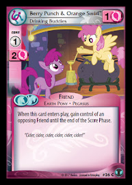 My Little Pony Berry Punch & Orange Swirl, Drinking Buddies Defenders of Equestria CCG Card