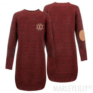 burgundy personalized sweater dress