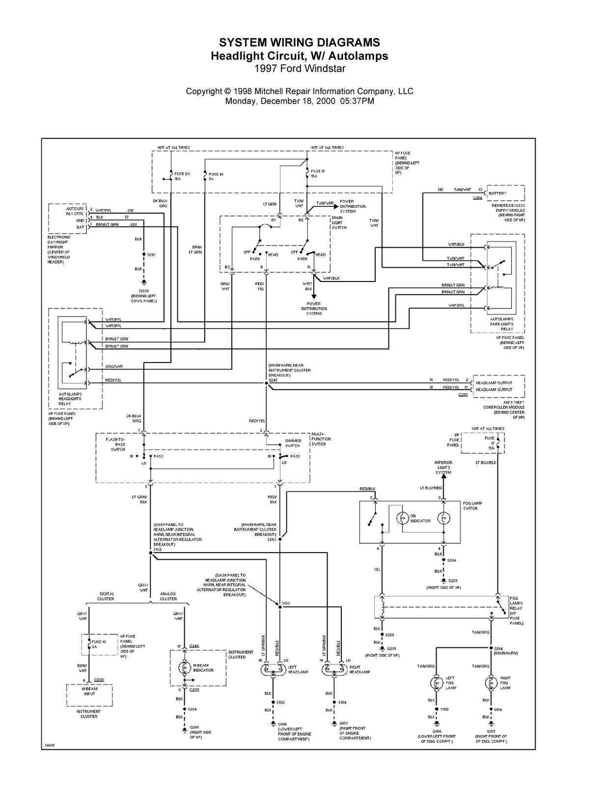 Ford Windstar Electrical Diagram Books Of Wiring 2003 Trailer 1997 Complete System Diagrams 2002