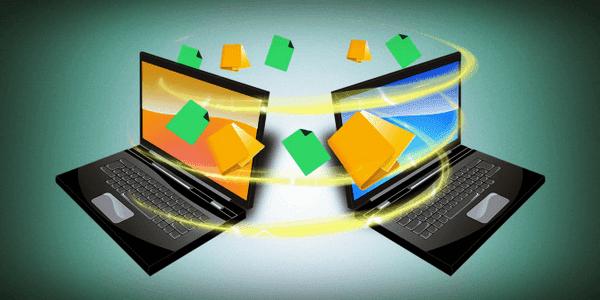 نقل الملفات بين جهازين على نفس الشبكة بدون برامج