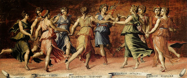 Musas Dançando com Apolo por Baldassare Peruzzi