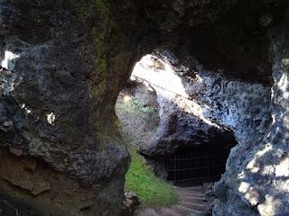 Salida de la mina de Cueva del Hierro