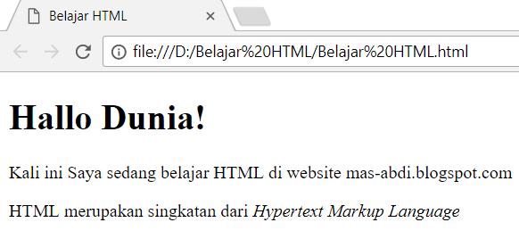 Pada artikel kali ini kita akan membahas  Cara Membuat Huruf Miring Dalam HTML Dengan Tag i dan Tag em