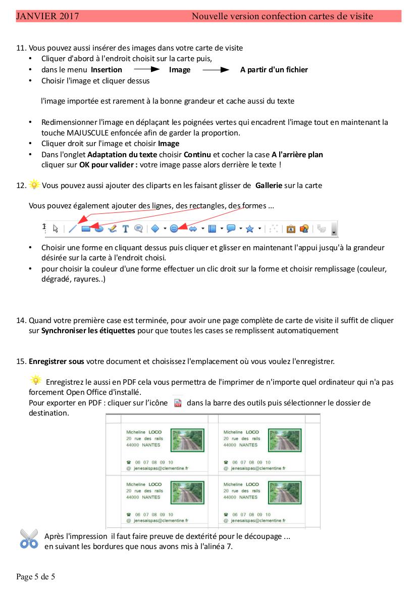 Annexe 2 Carte De Visite Mtallise Avec GIMP