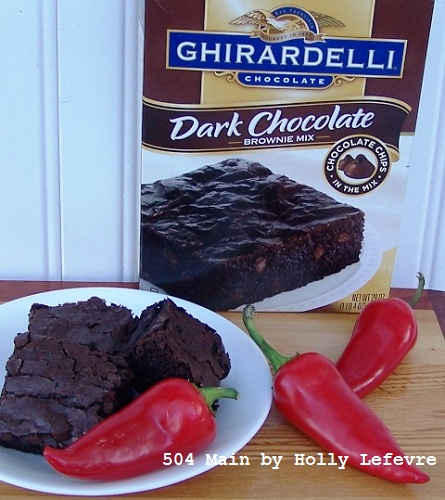 spicy cinnamon brownies and ghirardelli mix