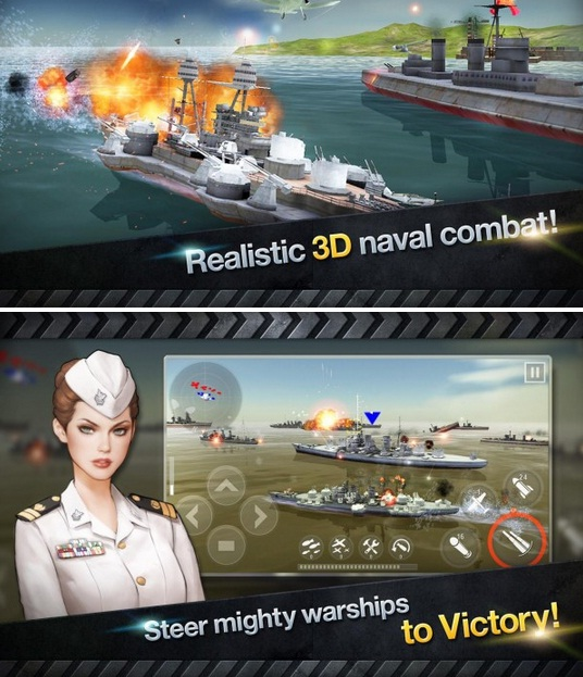 WARSHIP BATTLE 3D World War II Apk v1.2.4 Mod (Unlimited Money)