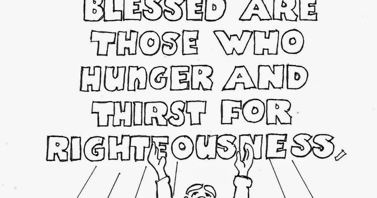 Coloring Pages for Kids by Mr. Adron: Blessed Are Those