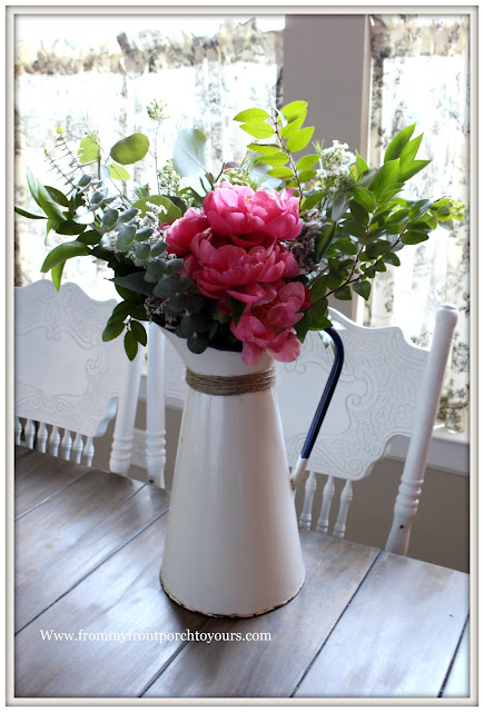 Mother's Day Peony Bouquet-Farmgirl Flowers-Flower Arrangement-Pink Peony-Farmhouse Flowers- From My Front Porch To Yours