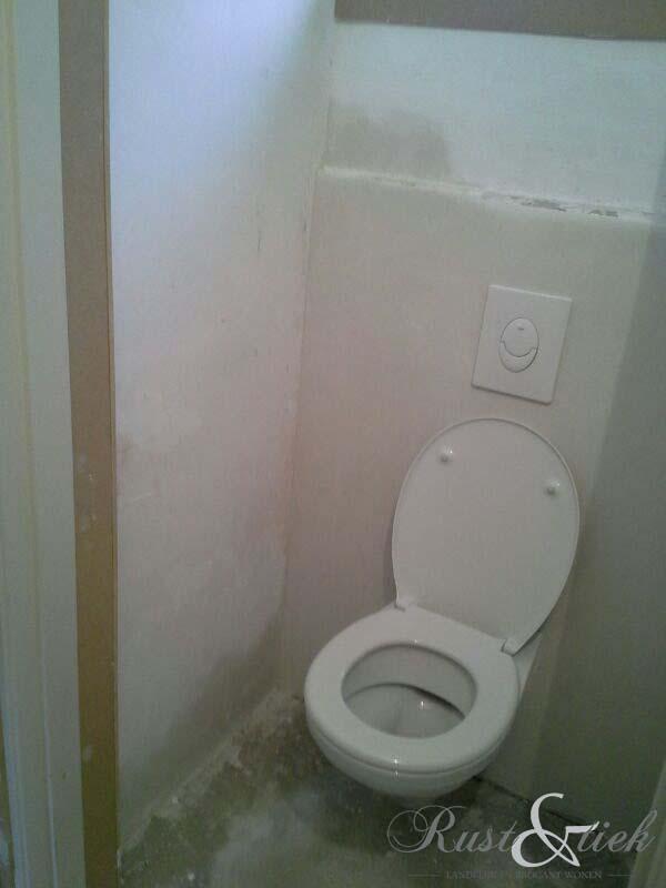 Rust en tiek toilet met betonlook van mia colore - Opnieuw zijn toilet ...